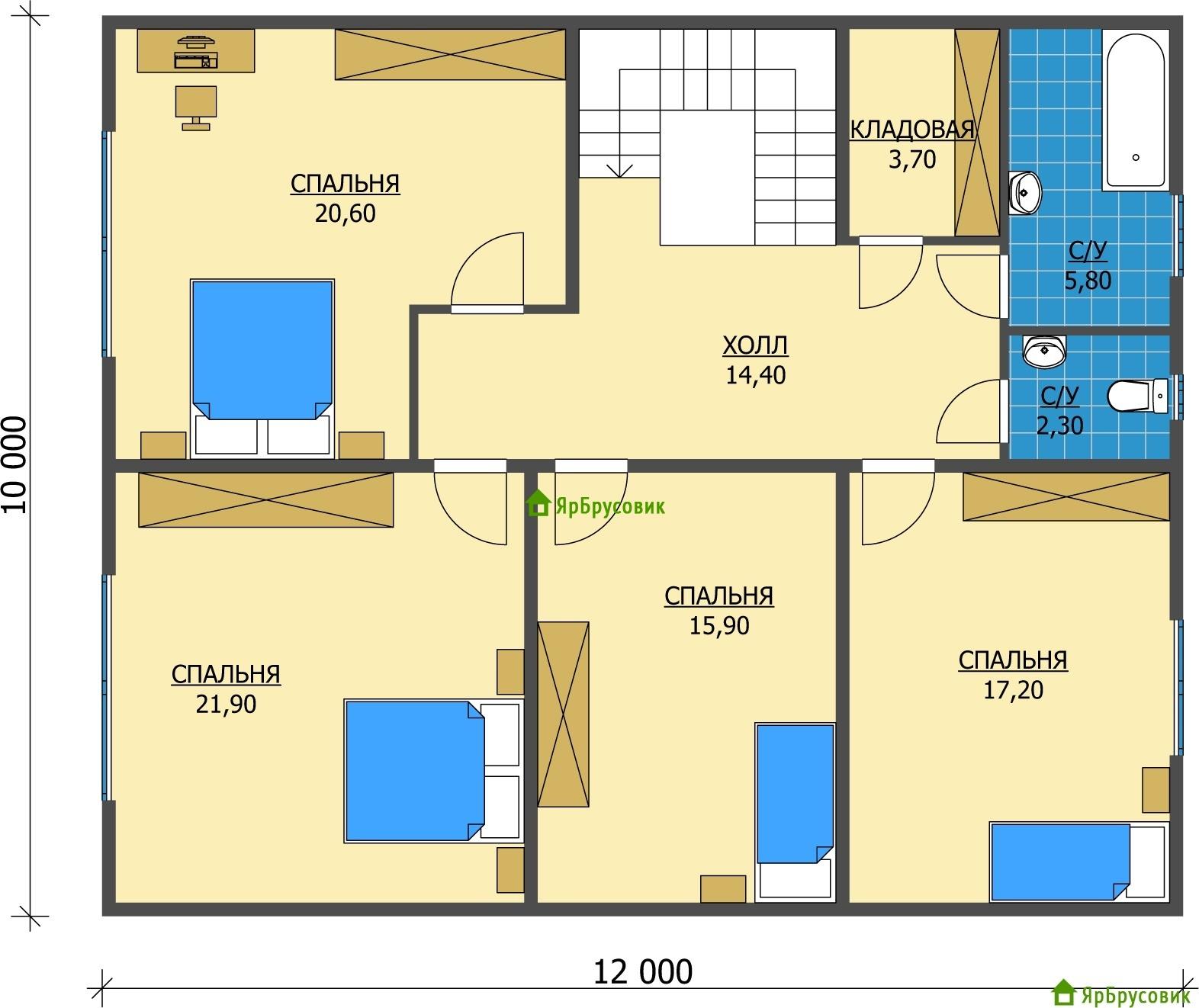 Идеальный дом: планировка дома 10