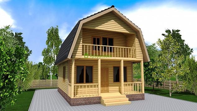 Купить дом из бруса 6х8,5, 85,3 м2, заказать строительство п.